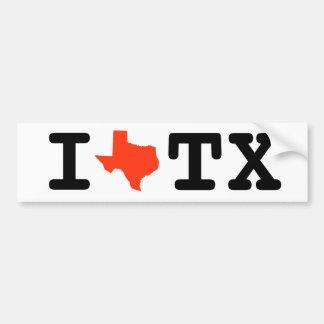 Autocollant De Voiture J'aime l'adhésif pour pare-chocs du Texas