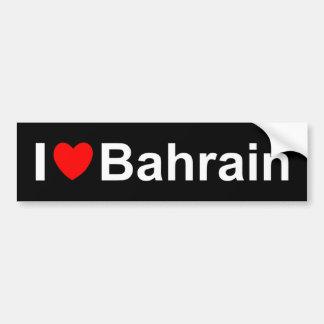 Autocollant De Voiture J'aime le coeur Bahrain