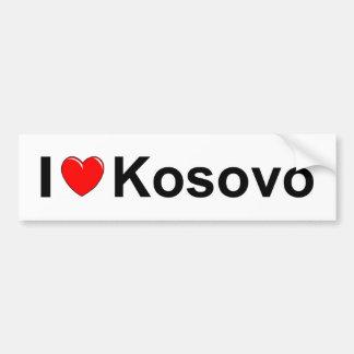 Autocollant De Voiture J'aime le coeur Kosovo