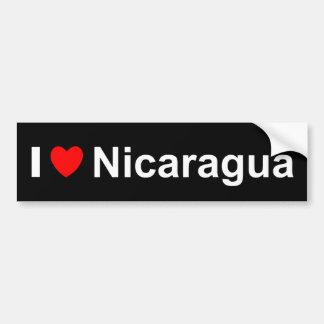 Autocollant De Voiture J'aime le coeur Nicaragua