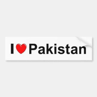 Autocollant De Voiture J'aime le coeur Pakistan