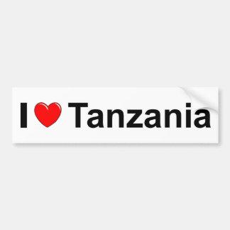 Autocollant De Voiture J'aime le coeur Tanzanie