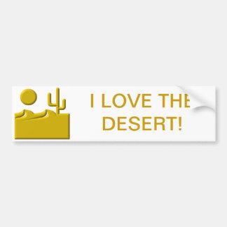 Autocollant De Voiture J'aime le désert