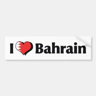Autocollant De Voiture J'aime le drapeau du Bahrain