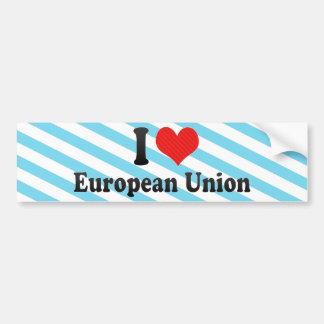 Autocollant De Voiture J'aime l'Union européenne