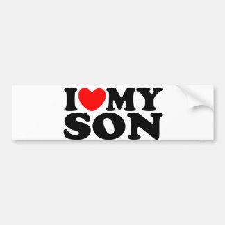 Autocollant De Voiture J'aime mon fils