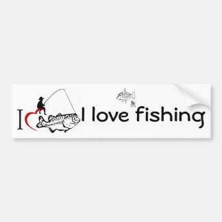 Autocollant De Voiture J'aime pêcher l'adhésif pour pare-chocs