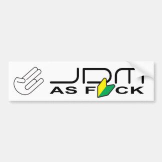 """Autocollant De Voiture JDM comme FCK """"nouveau conducteur """""""