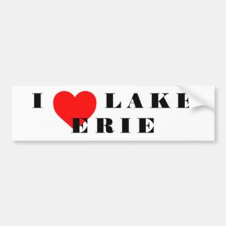 Autocollant De Voiture Je chauffe le lac Érié