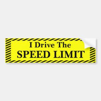 Autocollant De Voiture Je conduis la limitation de vitesse