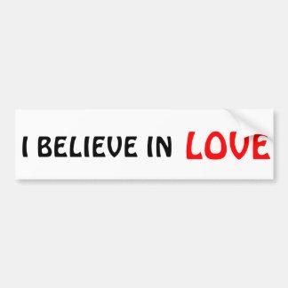 Autocollant De Voiture Je crois à l'amour
