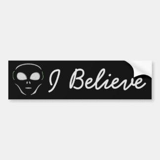 Autocollant De Voiture Je crois, adhésif pour pare-chocs d'UFO d'aliens
