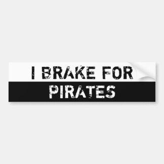 Autocollant De Voiture Je freine pour des pirates