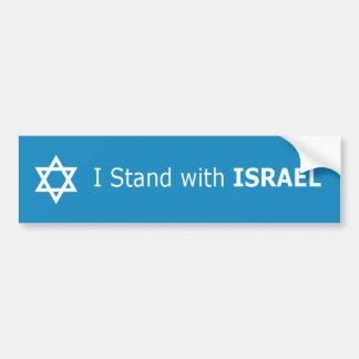 Autocollant De Voiture Je me tiens avec l'étoile de David de l'ISRAËL