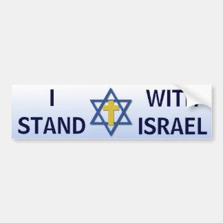 Autocollant De Voiture Je me tiens avec l'Israël