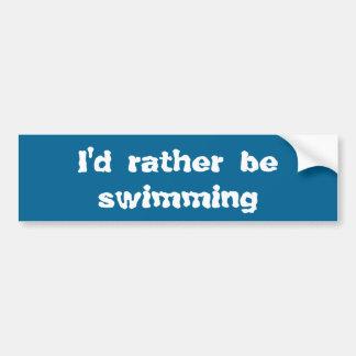 Autocollant De Voiture Je nagerais plutôt