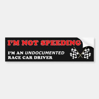 Autocollant De Voiture Je n'expédie pas… le pilote de voiture de course