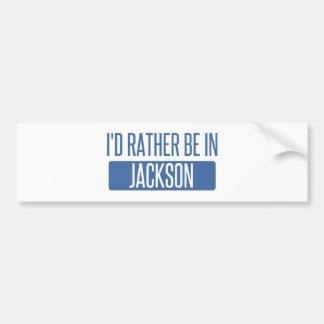 Autocollant De Voiture Je serais plutôt à Jackson TN