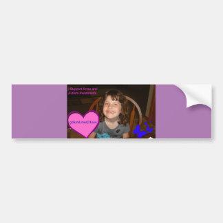 Autocollant De Voiture Je soutiens Anna et sensibilisation sur l'autisme