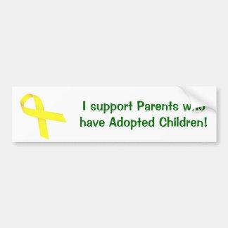 Autocollant De Voiture Je soutiens les parents qui ont adopté des enfants