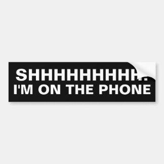 Autocollant De Voiture Je suis au téléphone