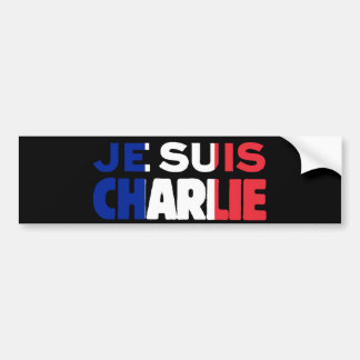 Autocollant De Voiture Je Suis Charlie - je suis Charlie tricolore de la