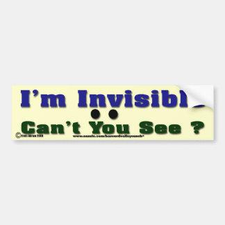 Autocollant De Voiture Je suis invisible