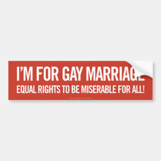 Autocollant De Voiture Je suis pour le mariage homosexuel