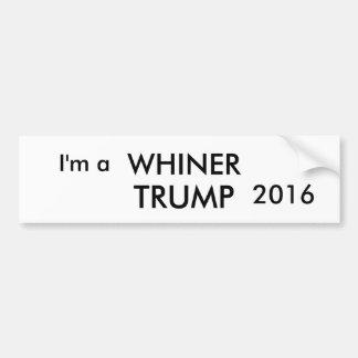 Autocollant De Voiture Je suis un adhésif pour pare-chocs de Donald Trump