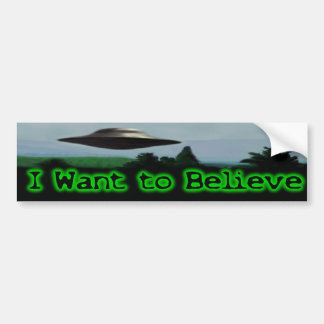 Autocollant De Voiture Je veux croire