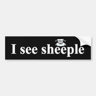 Autocollant De Voiture Je vois le sheeple