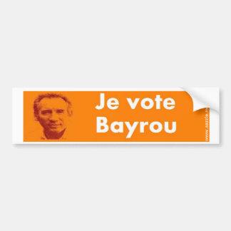 Autocollant De Voiture Je vote Bayrou