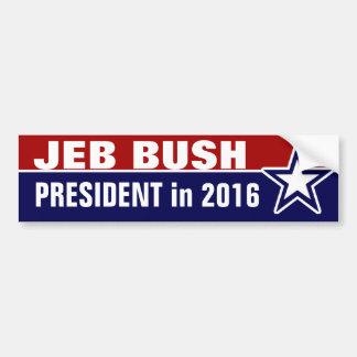 Autocollant De Voiture Jeb Bush en 2016