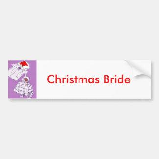 Autocollant De Voiture Jeune mariée de Noël