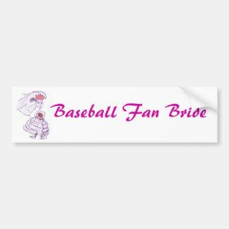 Autocollant De Voiture Jeune mariée rose de casquette de baseball