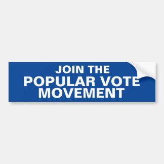 Autocollant De Voiture JOIGNEZ le bumpersticker de MOUVEMENT de VOTE