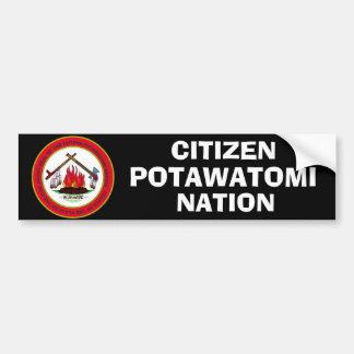 Autocollant De Voiture Joint de nation de Potawatomi de citoyen