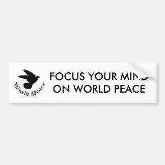 Autocollant De Voiture Jour de paix du monde