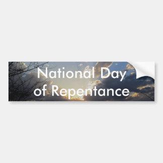 Autocollant De Voiture Jour national de repentir
