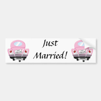 Autocollant De Voiture juste+marié, marié+voiture, bande