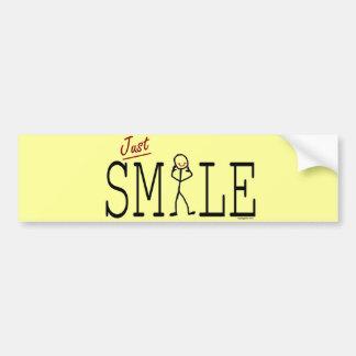 Autocollant De Voiture Juste sourire