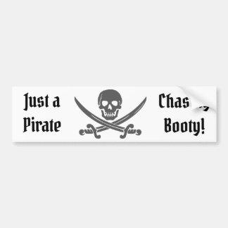 Autocollant De Voiture Juste un pirate chassant le butin avec le jolly