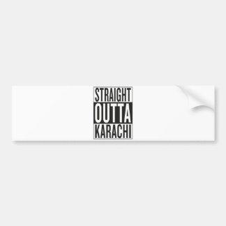 Autocollant De Voiture Karachi droite d'outta