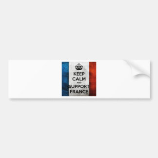 Autocollant De Voiture Keep Calm and Support France