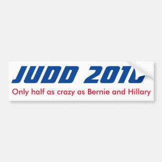 Autocollant De Voiture Keith Judd pour le président 2016 demi