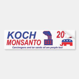 Autocollant De Voiture Koch Monsanto pour le président 2016