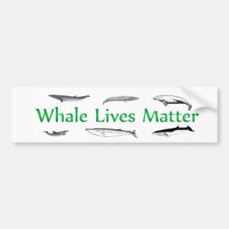 Autocollant De Voiture La baleine vit matière