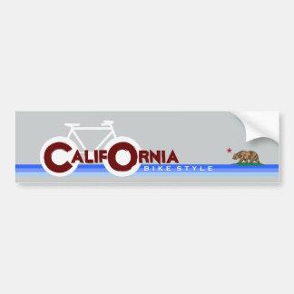 Autocollant De Voiture La Californie CA faisant du vélo le drapeau d'état