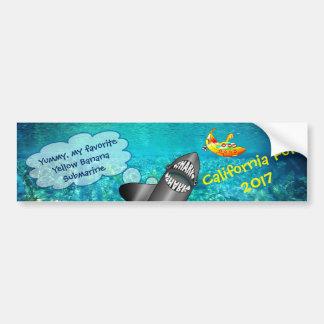 Autocollant De Voiture La Californie, requin et sous-marin jaune de