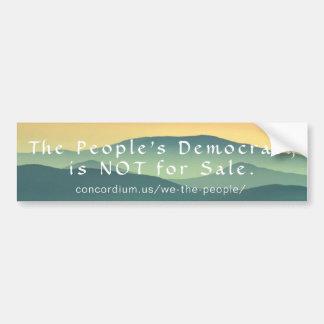 Autocollant De Voiture La démocratie populaire